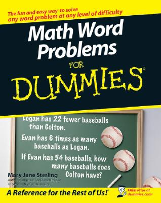 Math Word Problems for Dummies By Sterling, Mary Jane